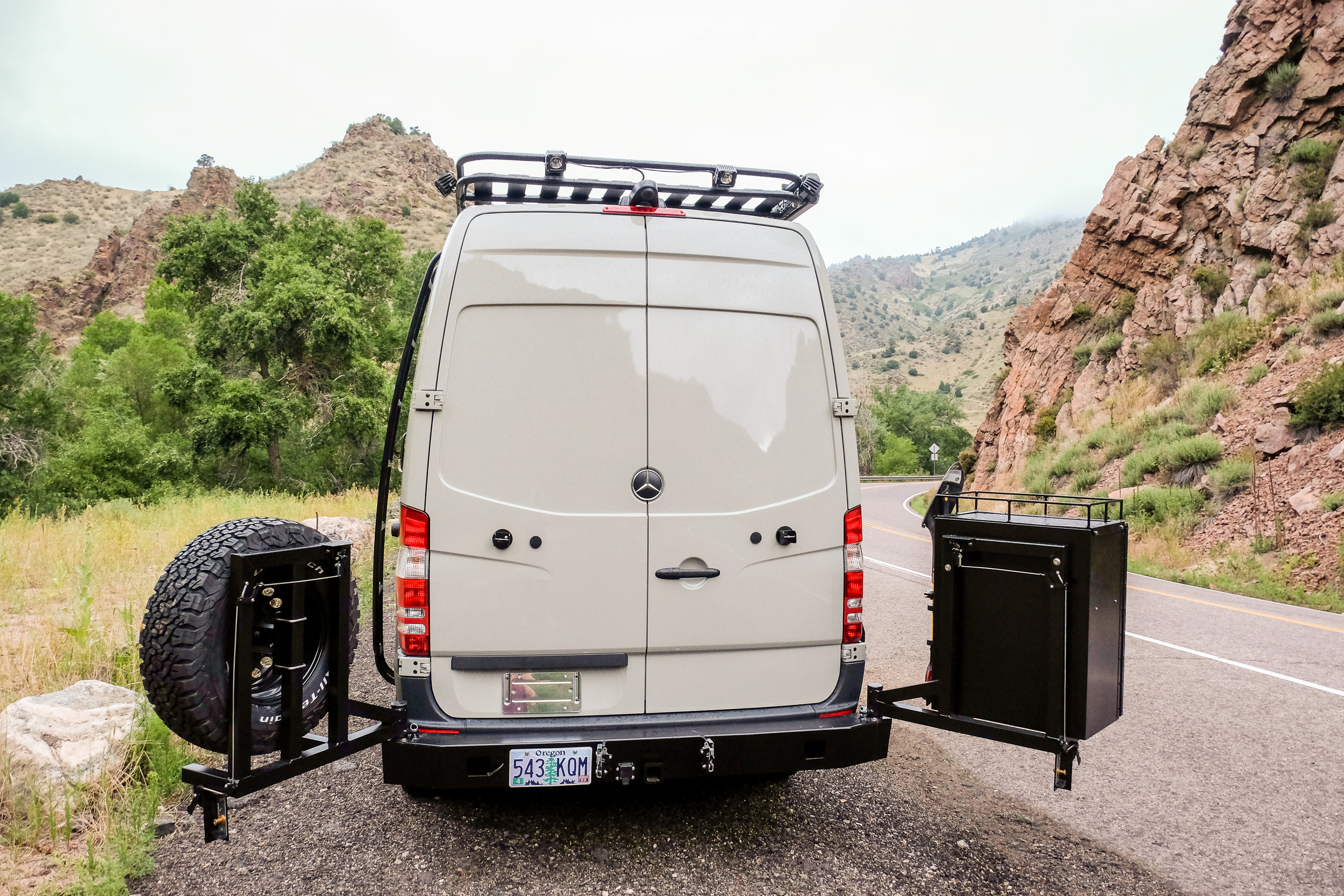 "Vanlife Customs: 144"" Mercedes Sprinter 4x4 Conversion Van with Aluminess Accessories"