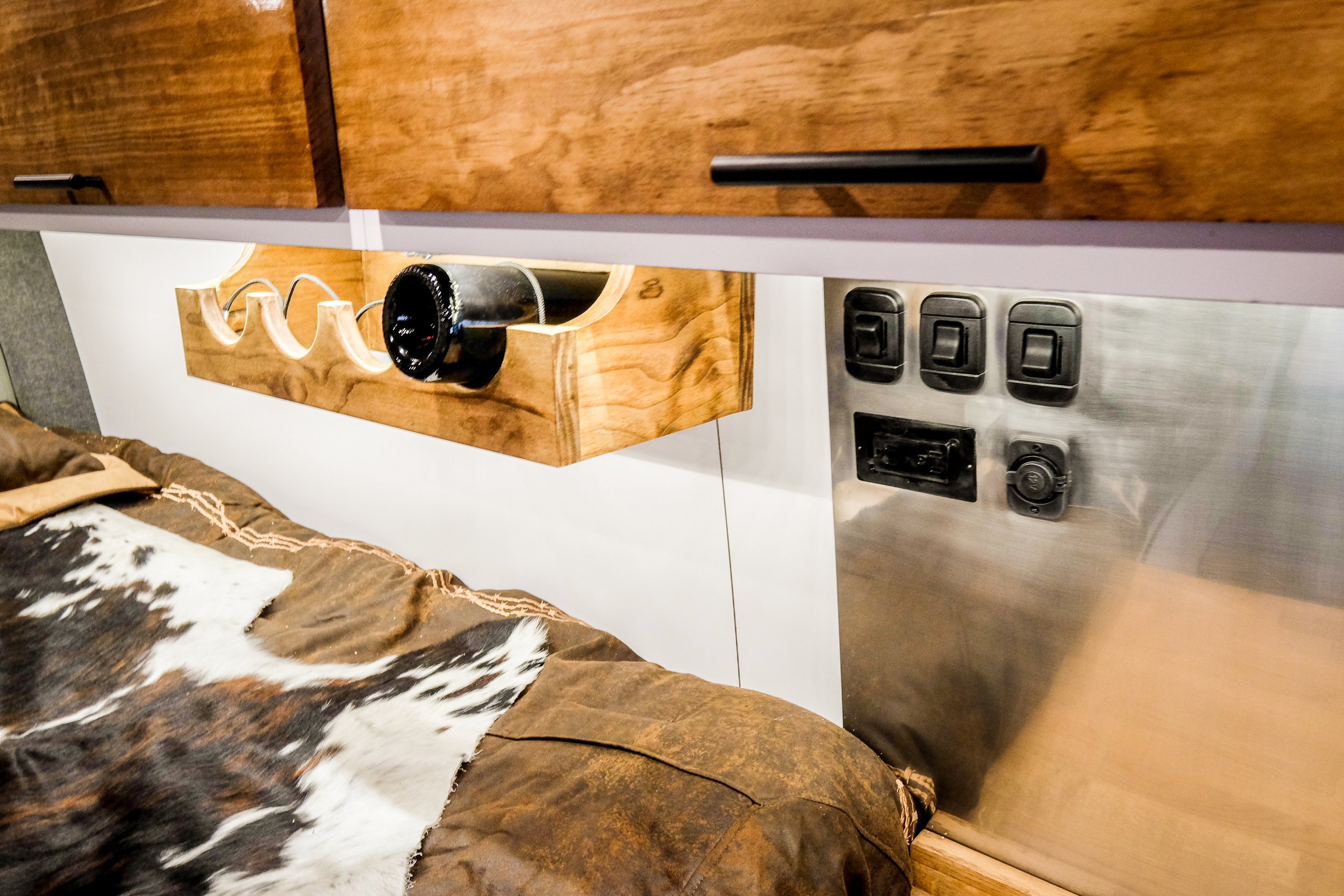 Mercedes Sprinter 4x4 Campervan Conversion Wine Rack