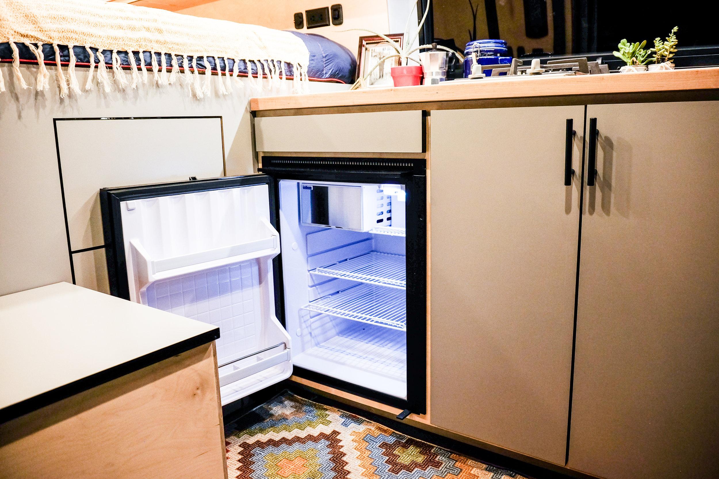 Vanlife Customs Transit Van Conversion Isotherm Refrigerator