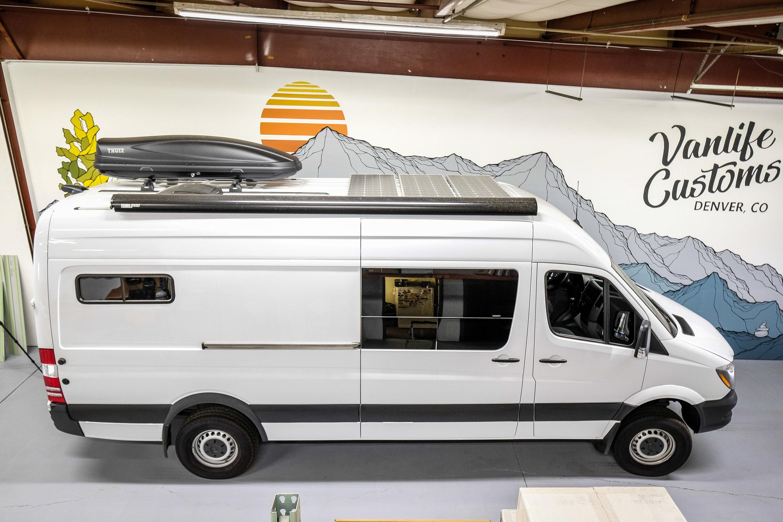 """Vanlife Customs: 170"""" Mercedes Sprinter 4x4 Camper Van Conversion"""