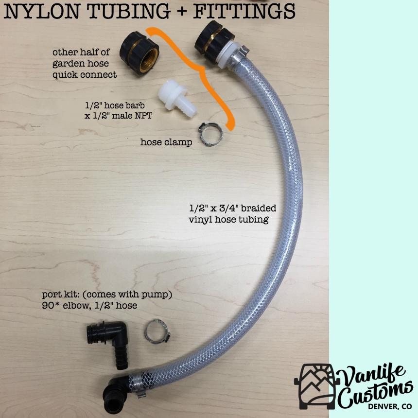 Vanlife Customs: Camper Van DIY Sink and Water System Materials