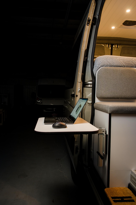 Vanlife Customs Sprinter Conversion Standing Desk
