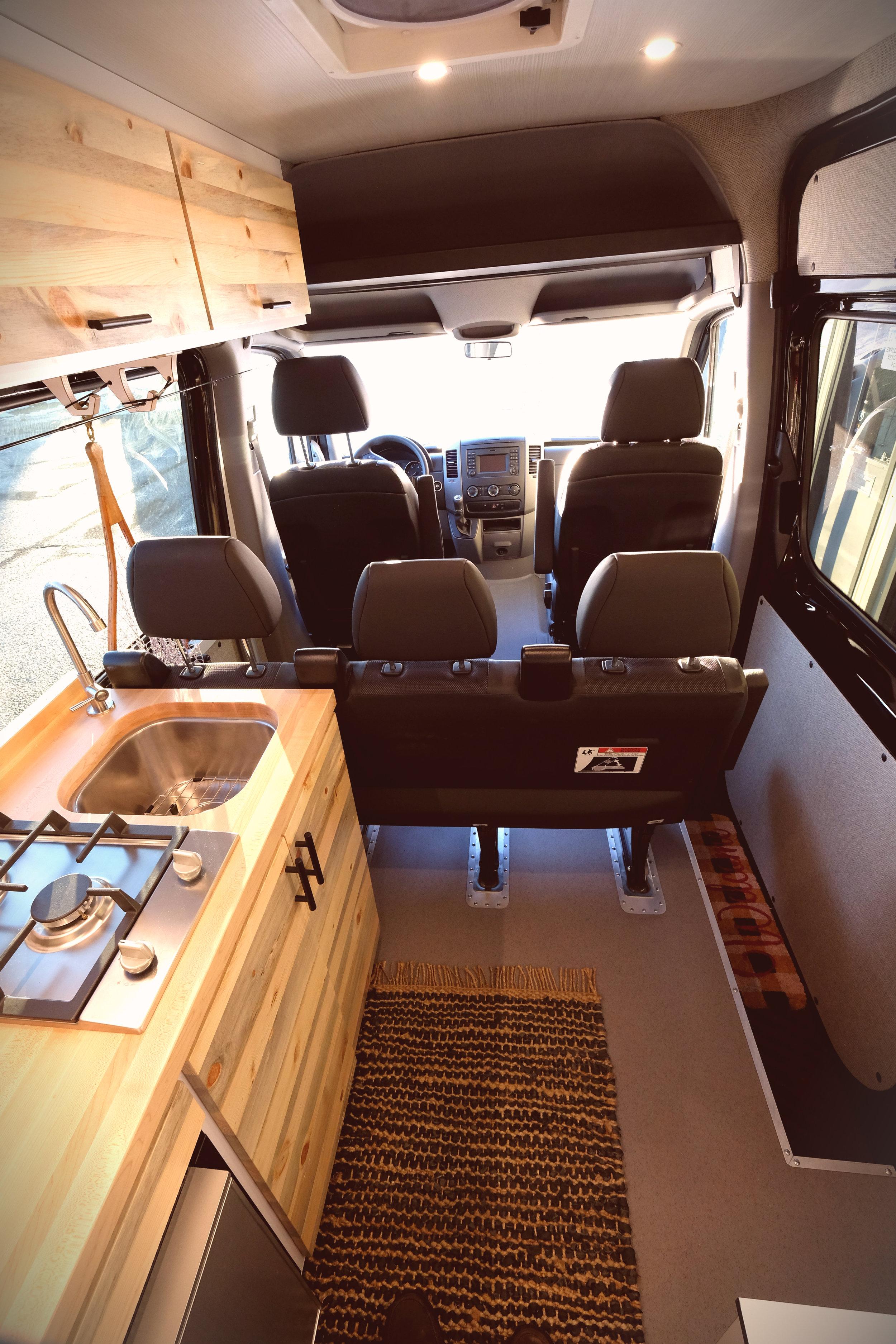 "Mad Murdock 170"" Sprinter Crew Van Conversion Seating"