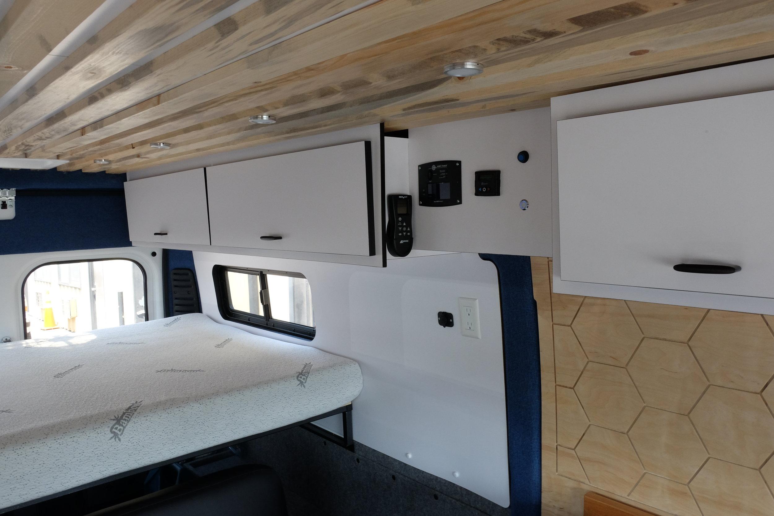 "Vanlife Customs: 159"" Dodge Promaster Custom Van Conversion Cabinets"