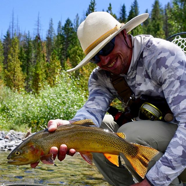The most incredible trip with the most incredible people  #cutthroattrout #flyfishing #roadtrip #simmsfishing #orvisflyfishing @aarongarrett_ls @jessepinkston @paul_edmonds