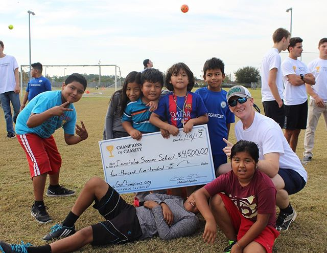 Yesterday we presented Immokalee Soccer School and Academy with brand new soccer balls and a check for $4,500 which will be used towards classrooms for the students!