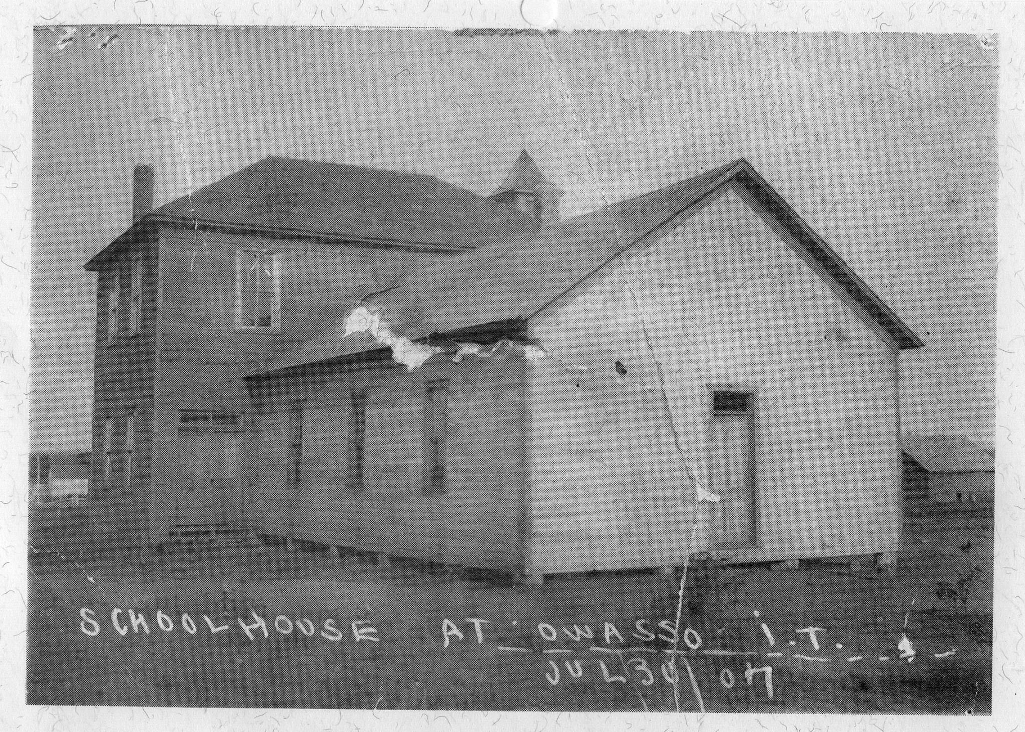 First School in Owasso was established by Lulu Barnes in 1898, for about 20 students    .