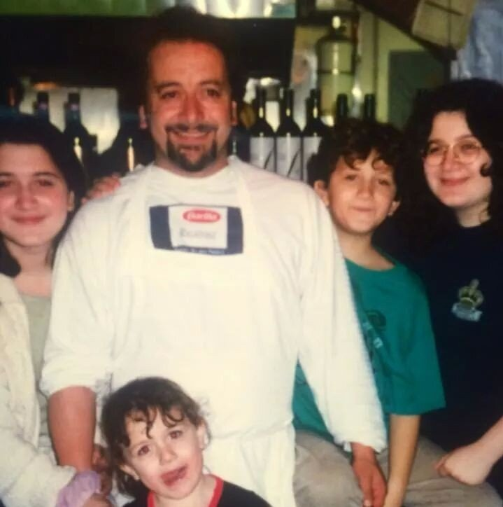 Gianfranco Bafaro with his four children photographed at his restaurant Calabria, in Kirkland (circa 1995).