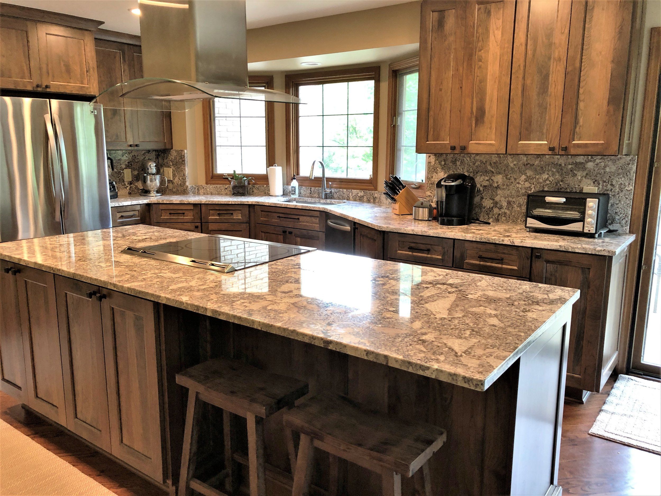 counter top and cabinet remodel