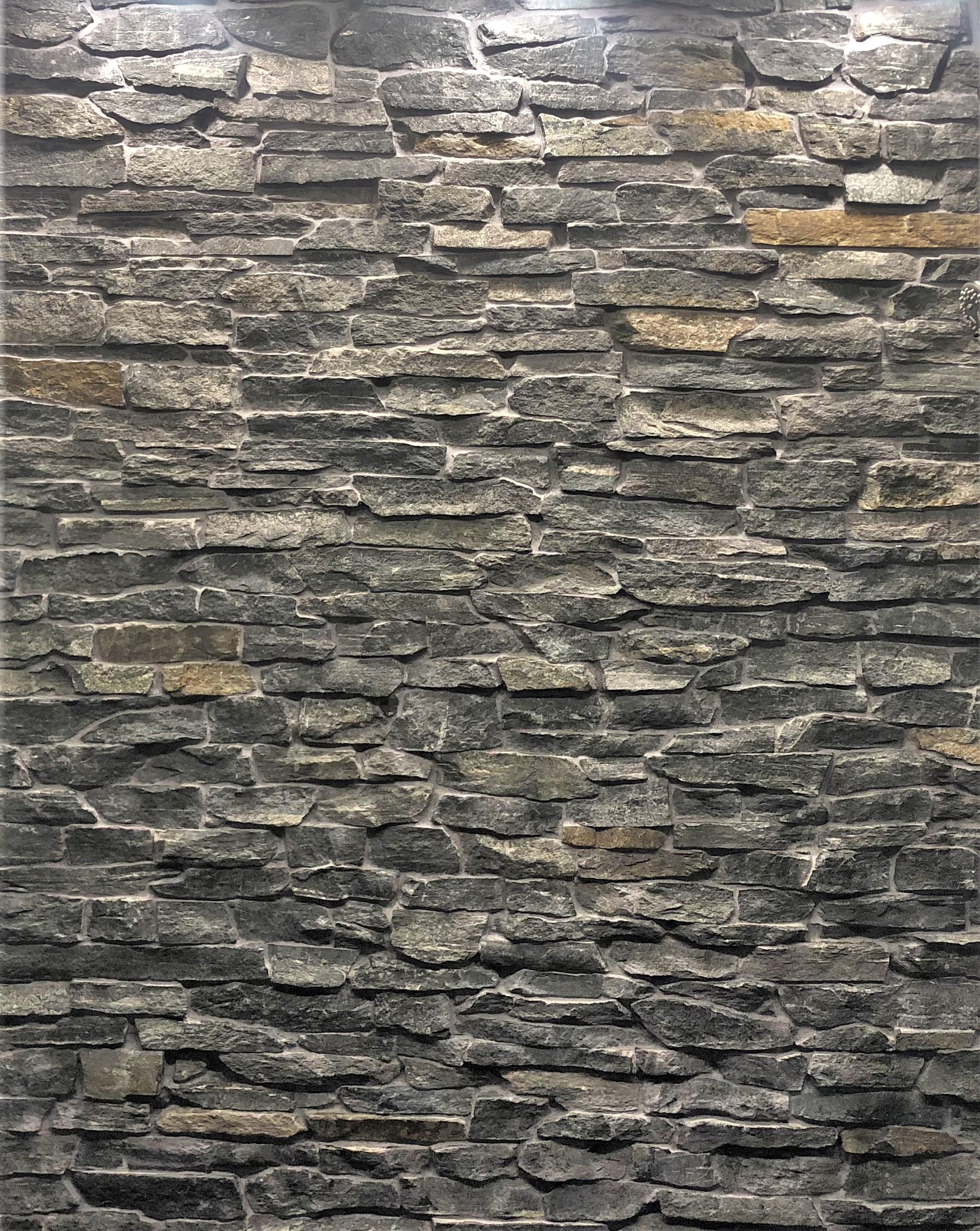 bathroom renovation rock wall