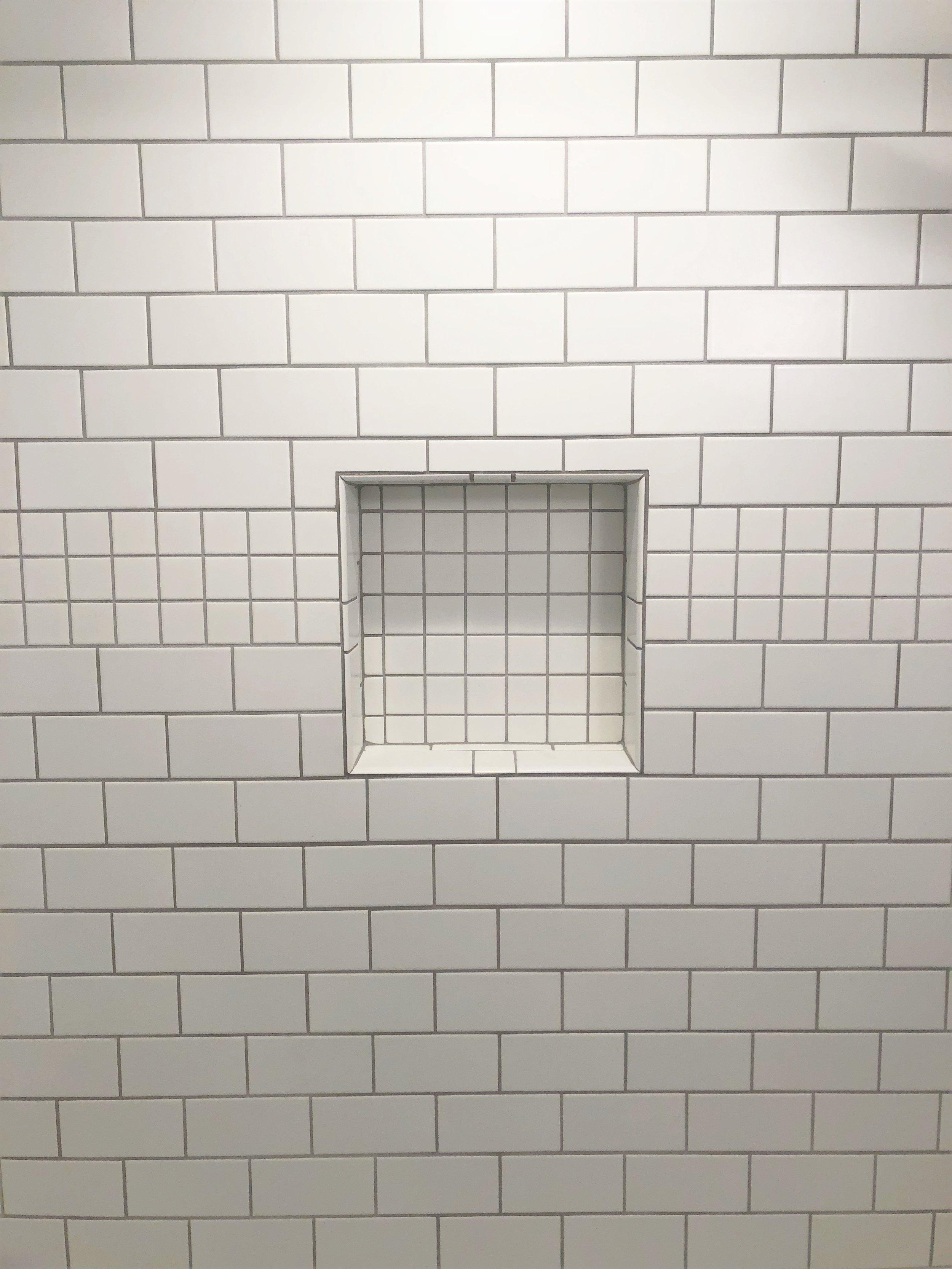 Shower shelf design