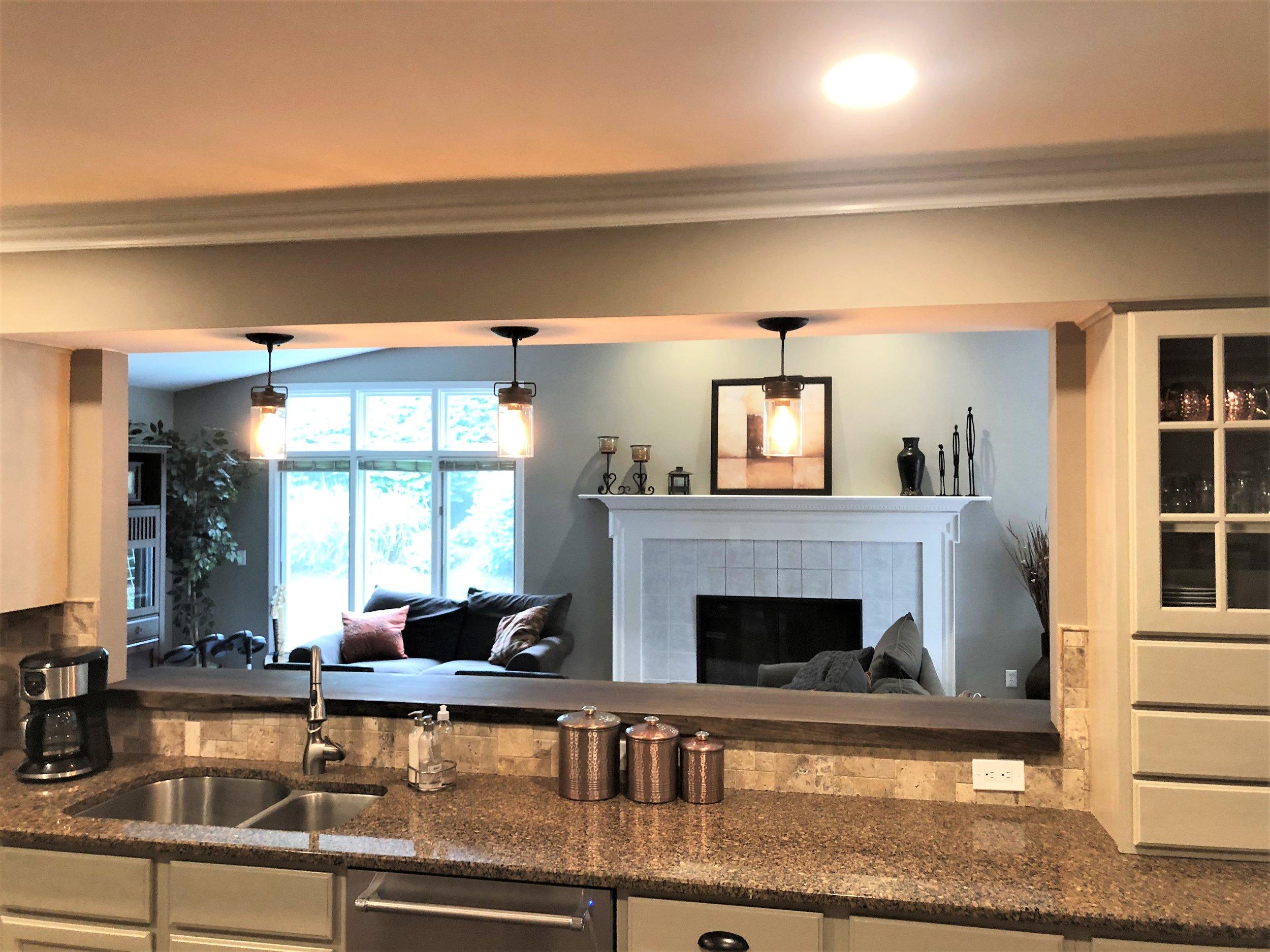 Open Concept Northville Kitchen