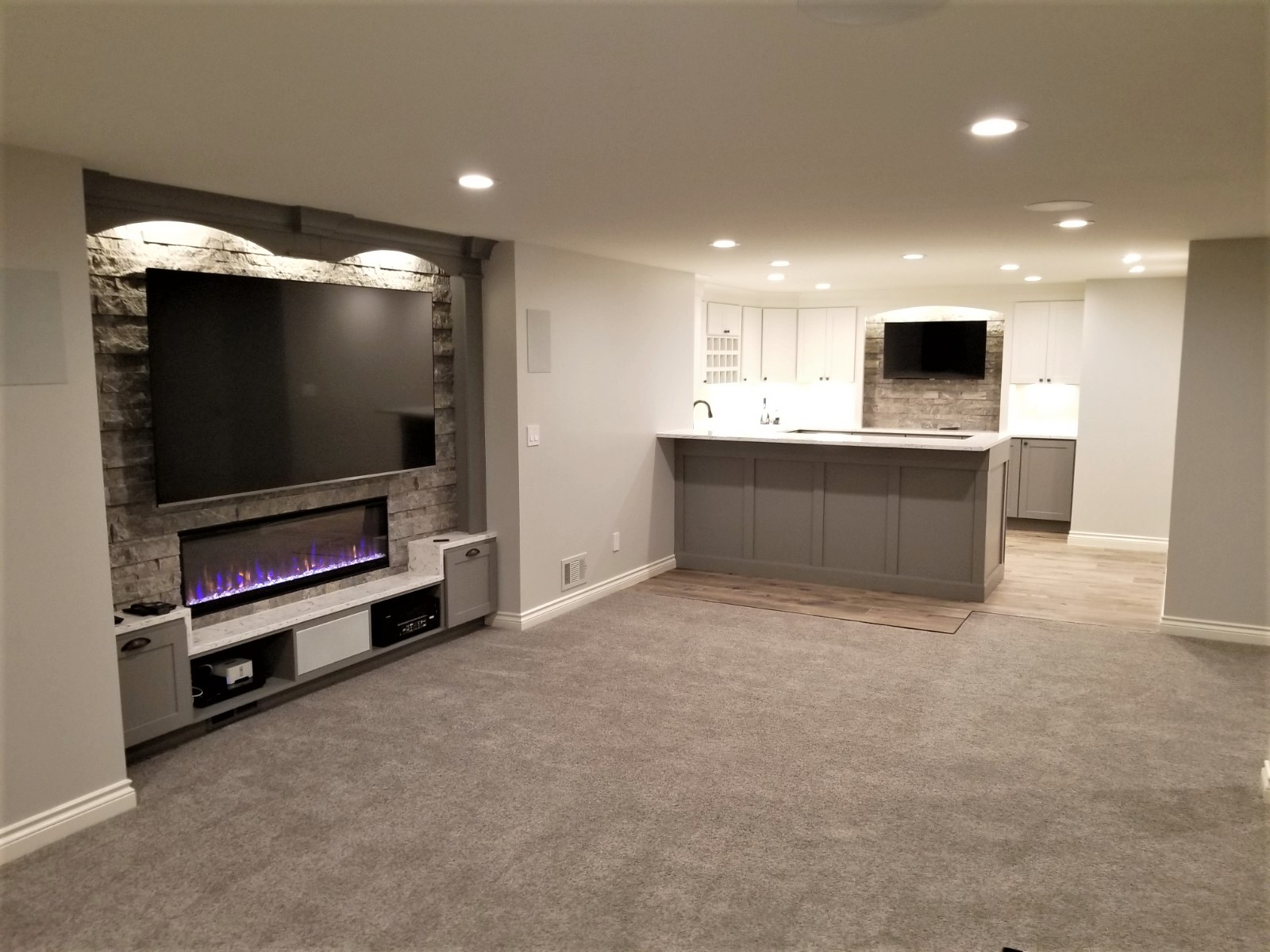 BASEMENT Design - Custom designs are developed to create a basement that suits your budget, style, & functionality needs.
