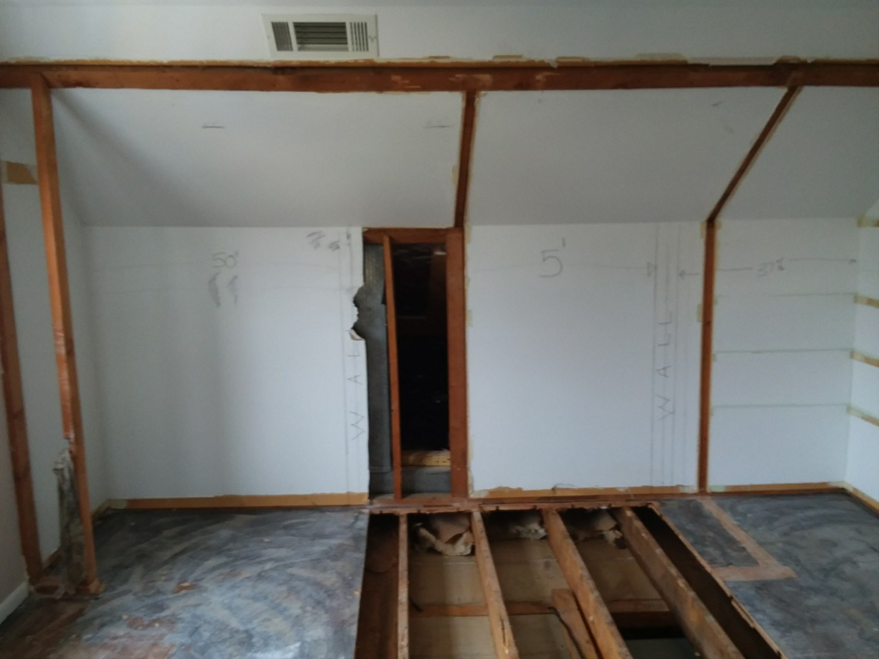 Before the bathroom build