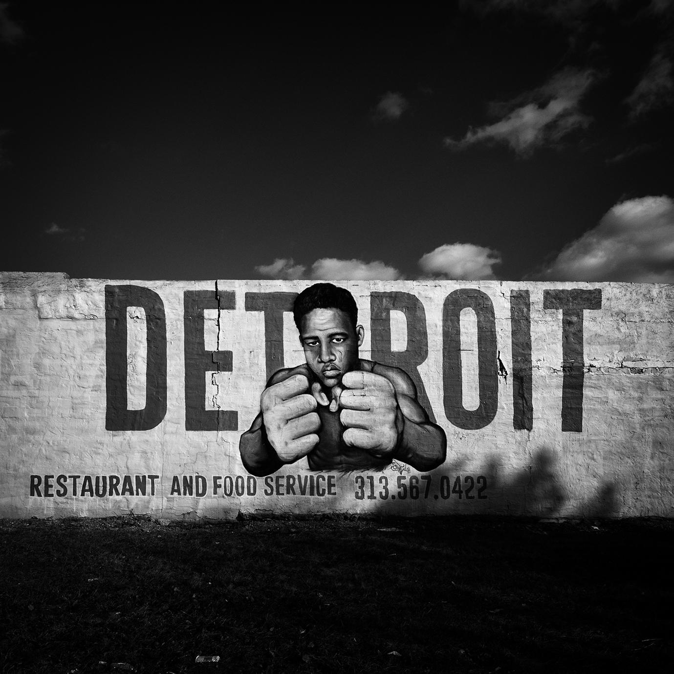 Joe Louis Mural by Sintex, Detroit, 2014