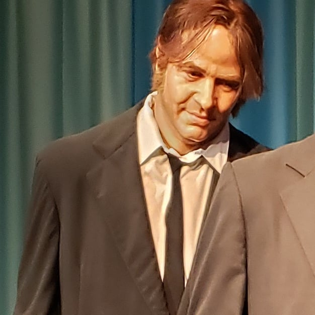 Playing a new game.. name this celebrity from the Movieland Wax Museum in Niagara Falls... answers to come tomorrow.