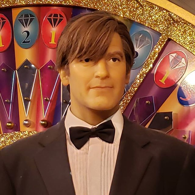 Our next wax figure from the Hollywood Wax Museum in Niagara Falls. Who is this handsome devil? #waxfigure #trivia