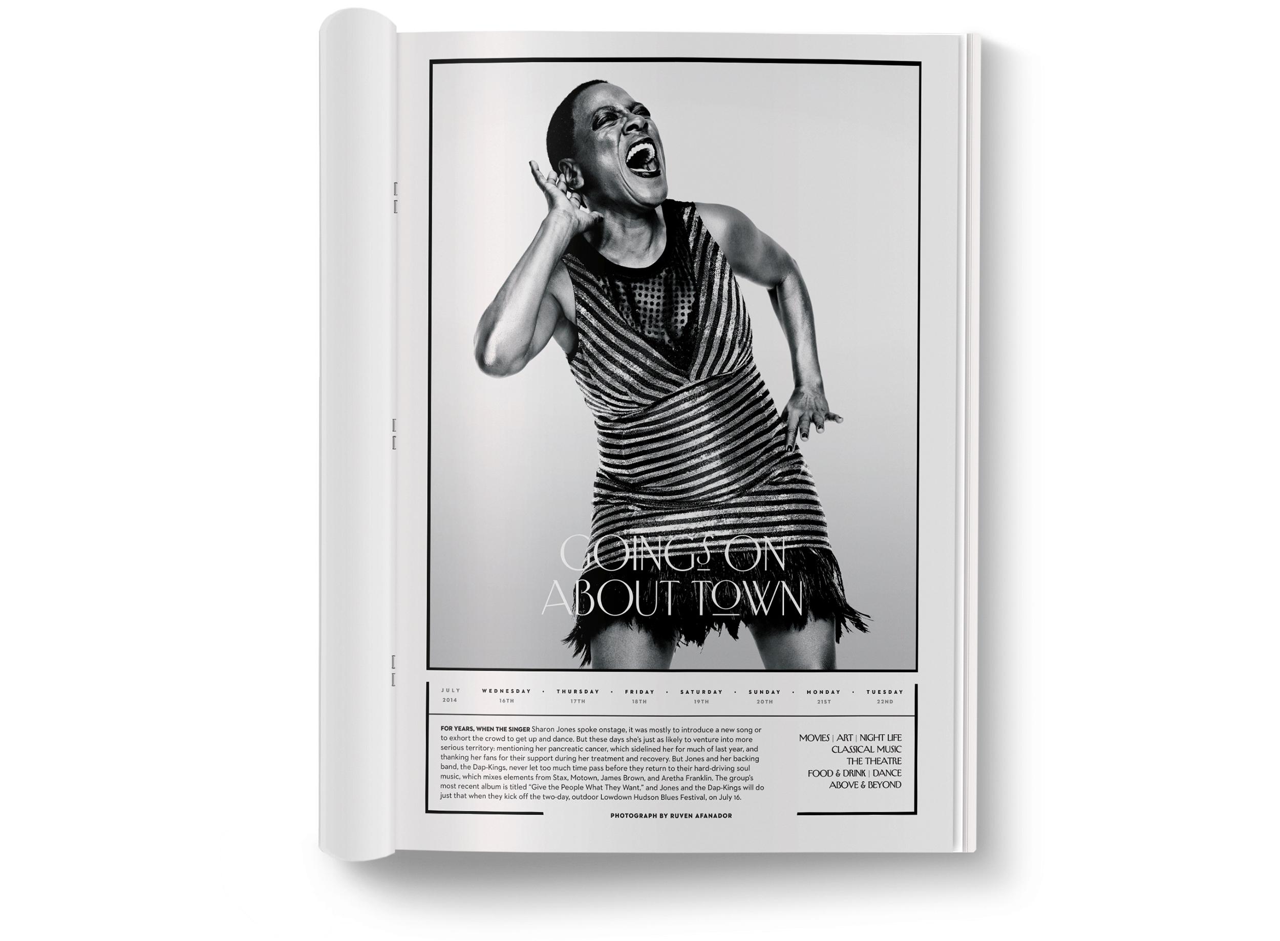 Sharon Jones  photographed by  Ruven Afanador .