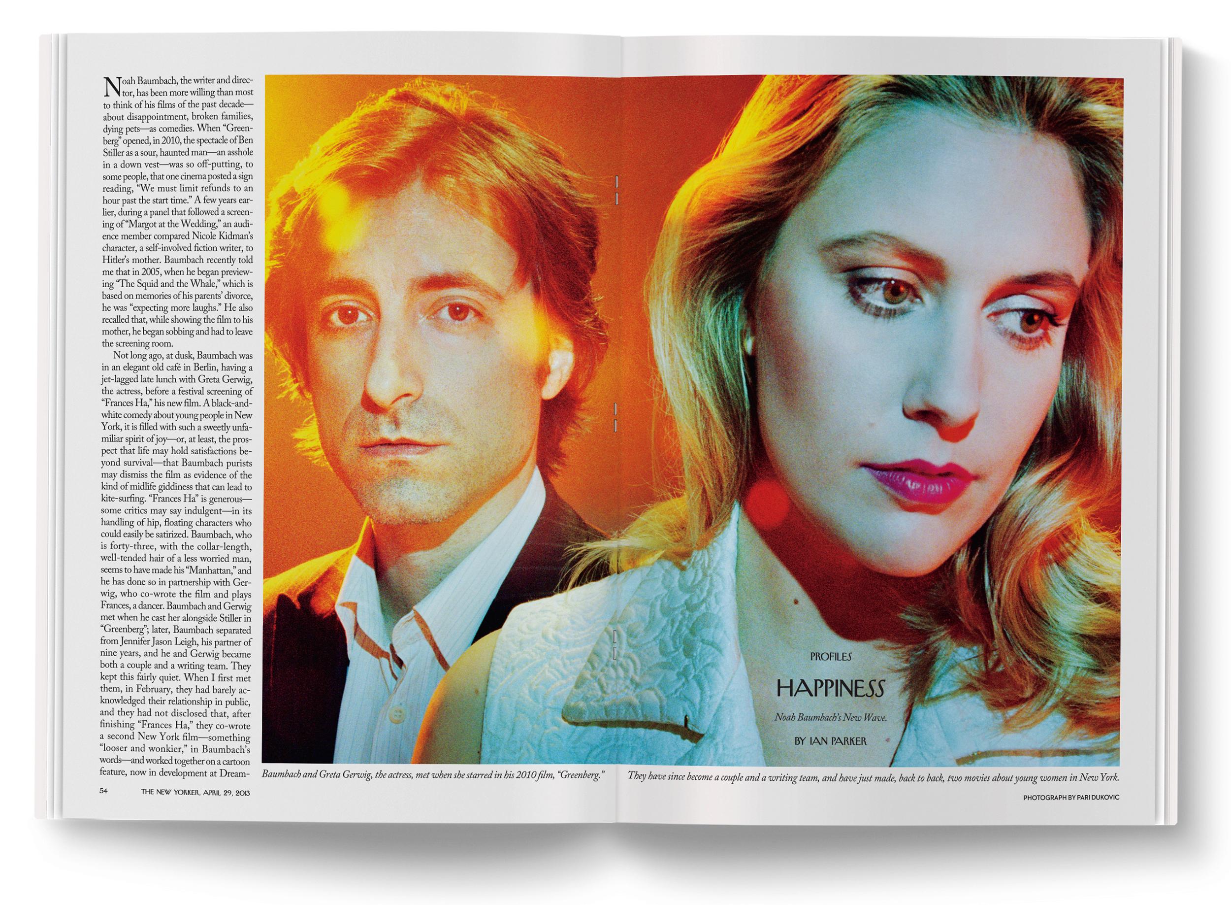 Noah Baumbach & Greta Gerwig photographed by  Pari Dukovic .