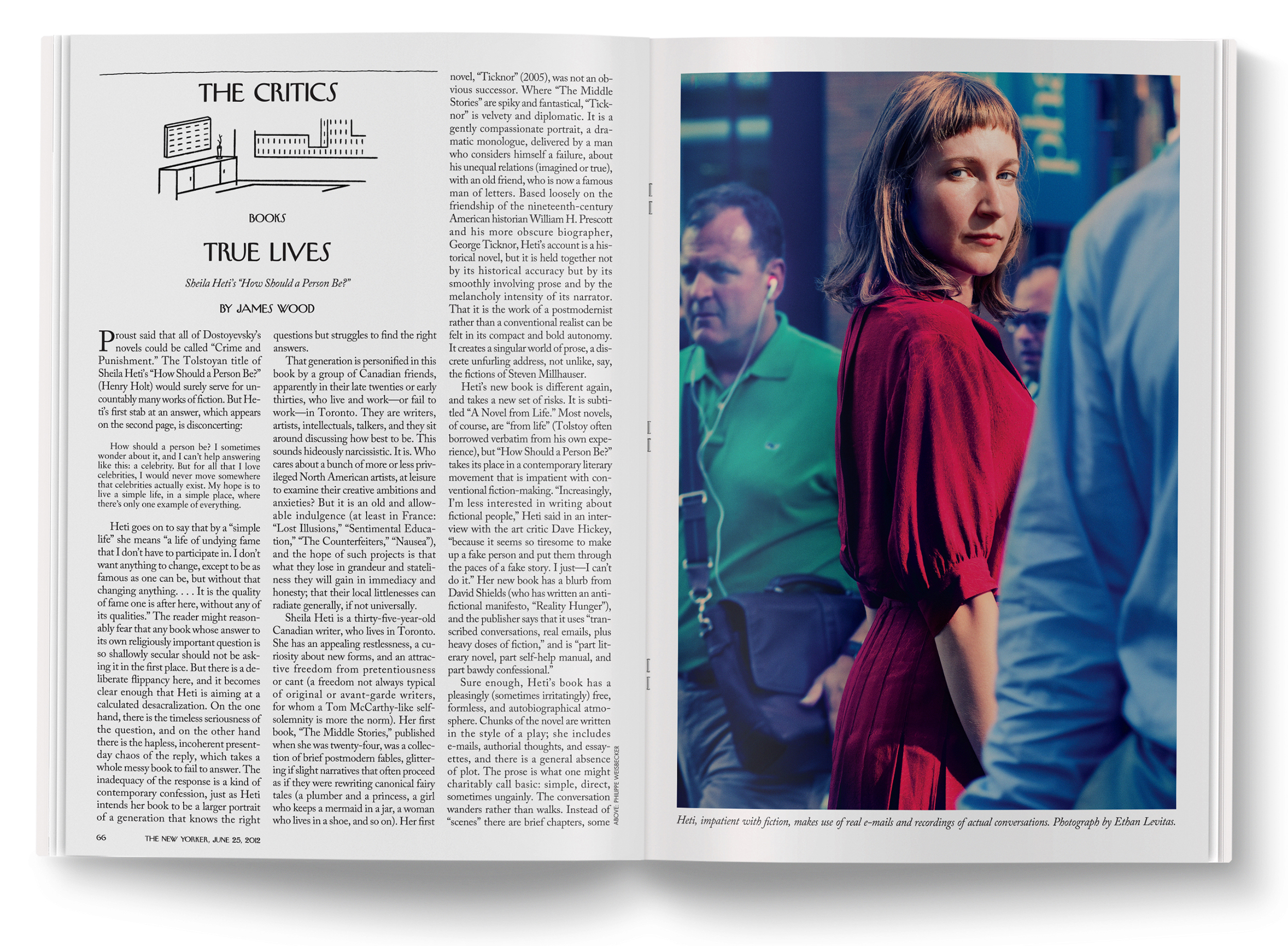 Sheila Heti  Photographed by  Ethan Levitas .