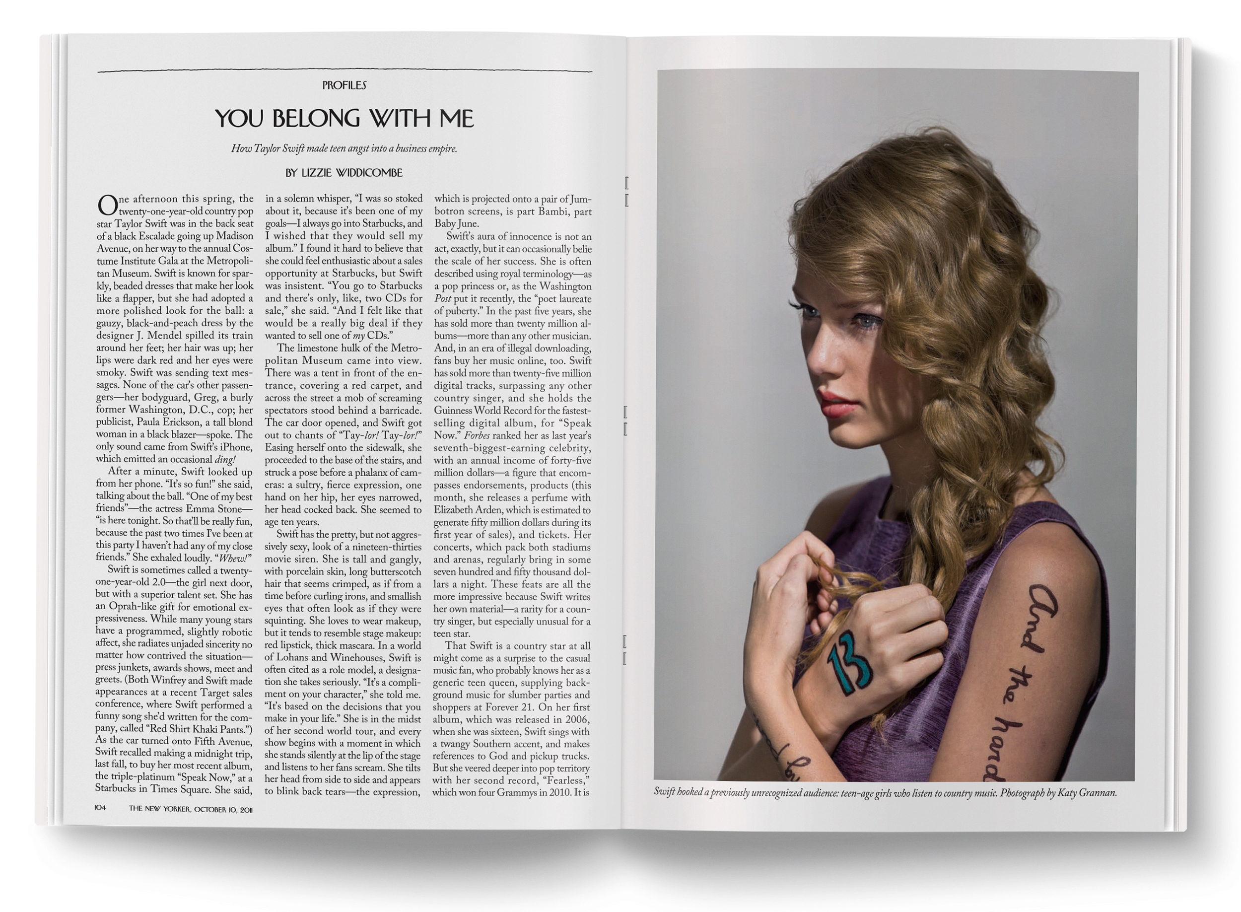 Taylor Swift  photographed by  Katy Grannan .