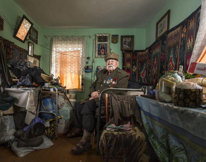 "Faces of the Second World War   Photographs and interviews from Sasha Maslov's project ""Veterans."" Photograph by  Sasha Maslov ."