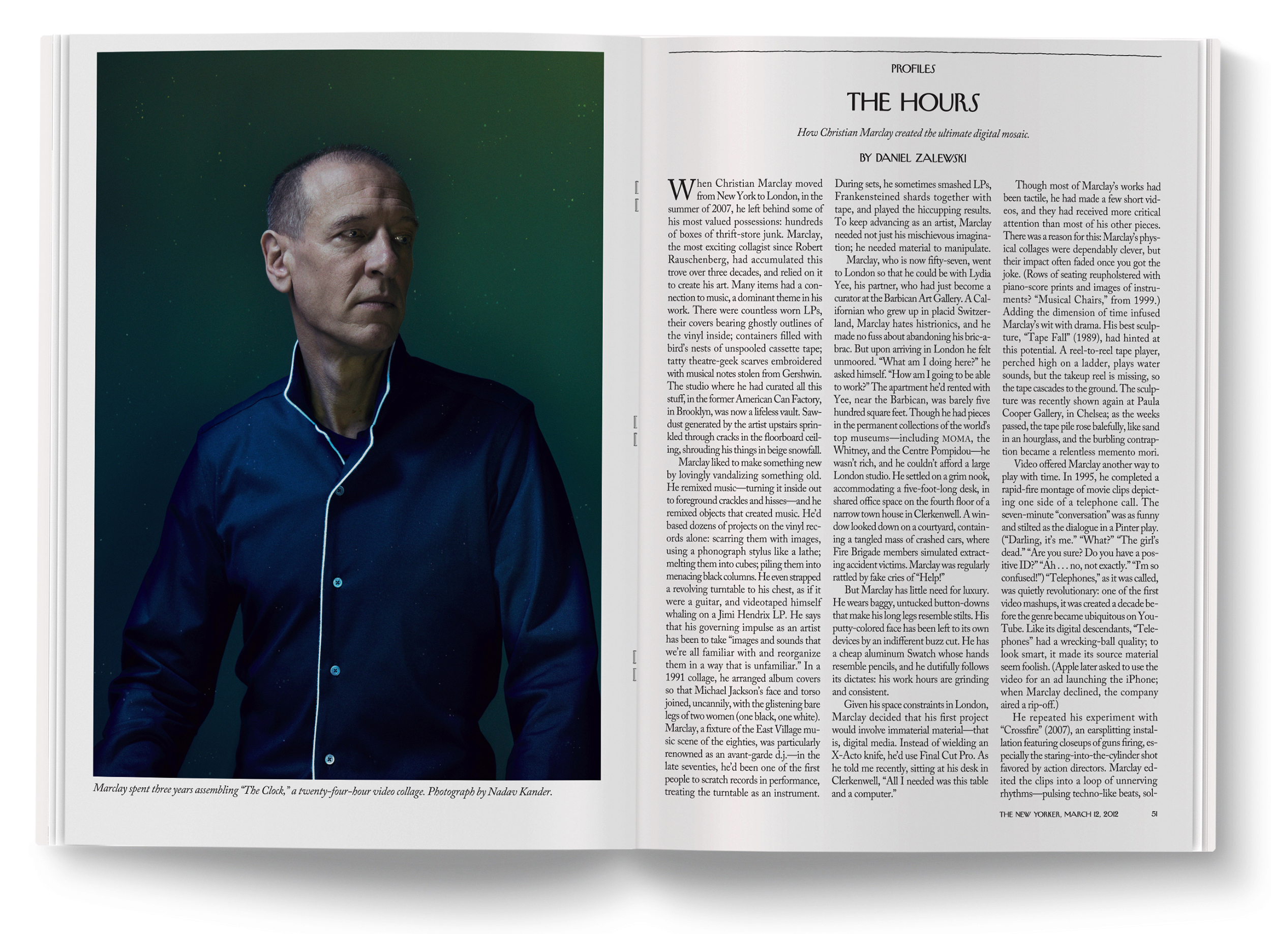 Christian Marclay  photographed by  Nadav Kander .