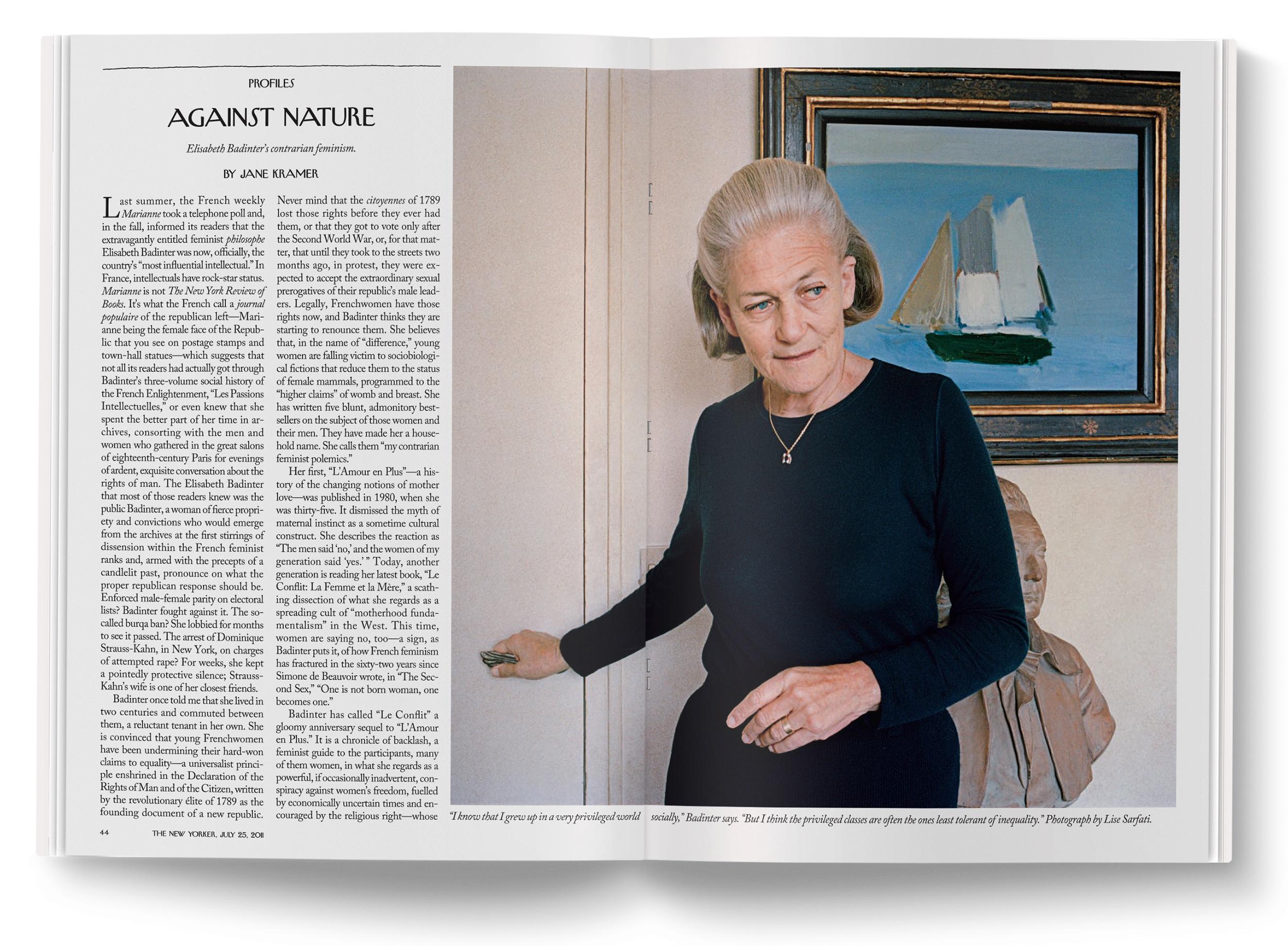 Élisabeth Badinter  photographed by  Lise Sarfati .