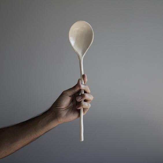 Handthrown Serving Spoon ; $30.