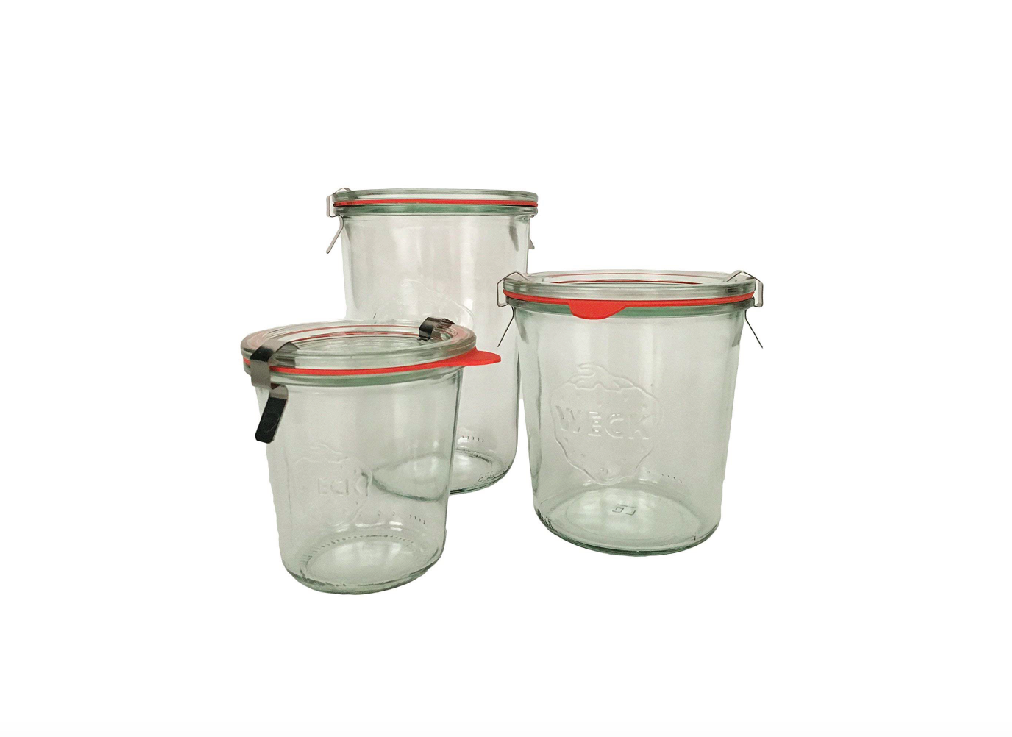 Weck Storage Jars; $35/set