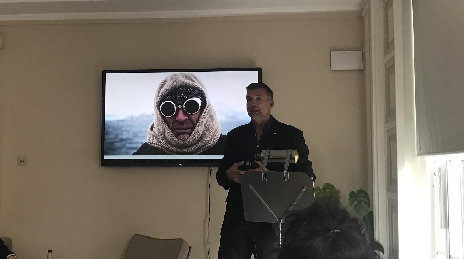 Tim Jarvis, modern-day explorer extraordinaire,at the launch of Shackleton Whisky.