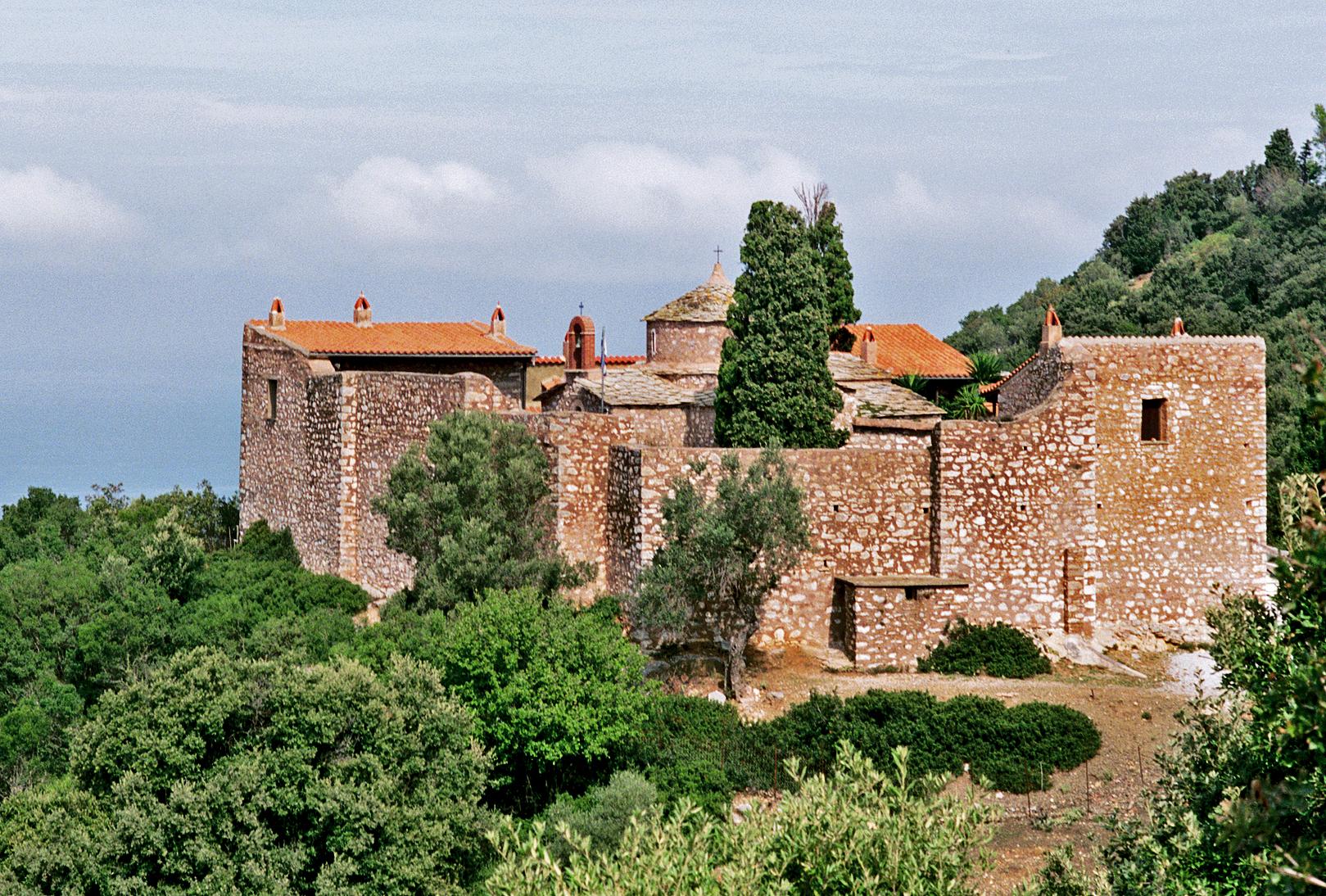 Monastery, 35mm, Skopelos, 2018
