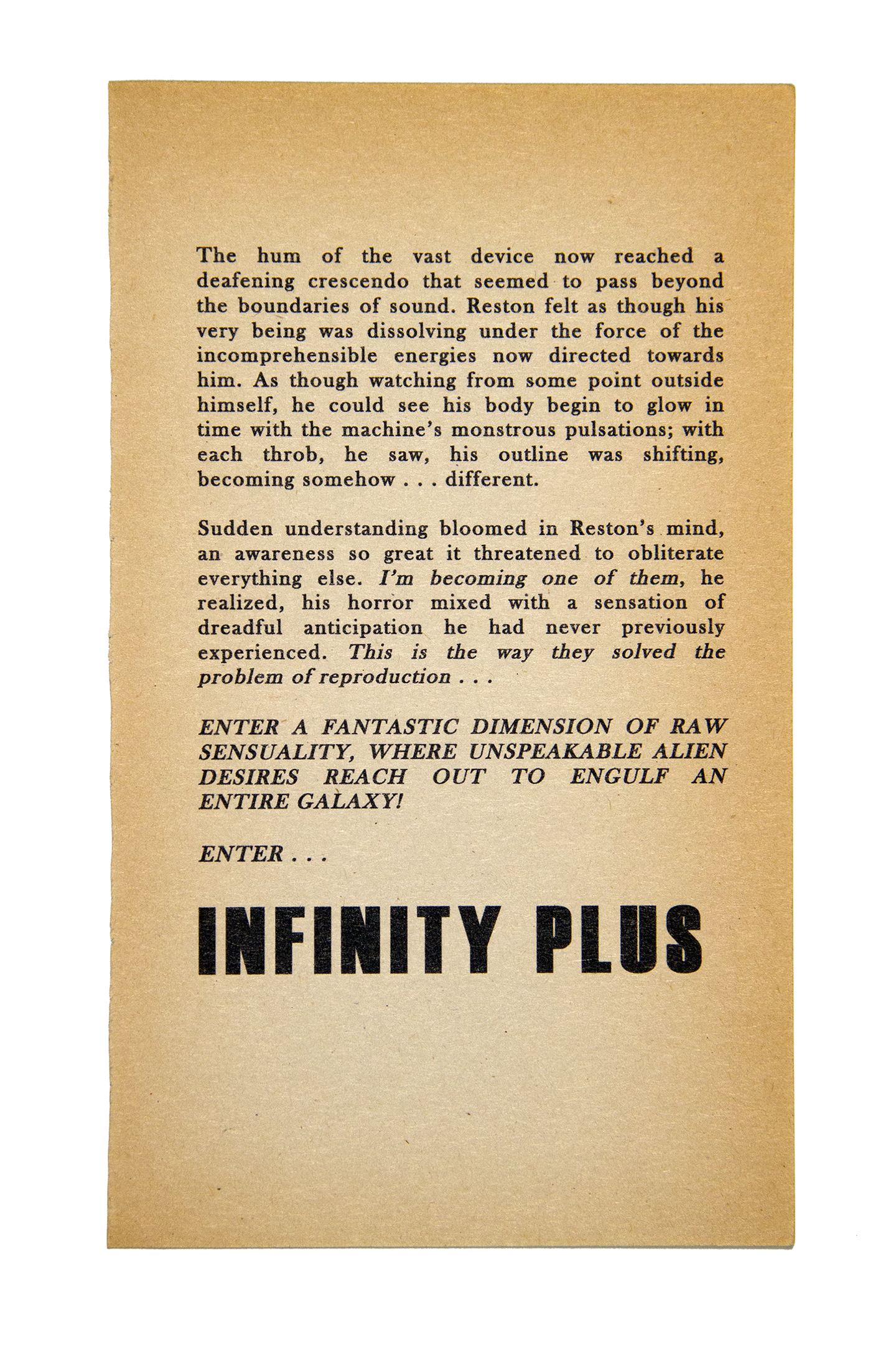 Infinity Plus , 2012. Inkjet on found paper