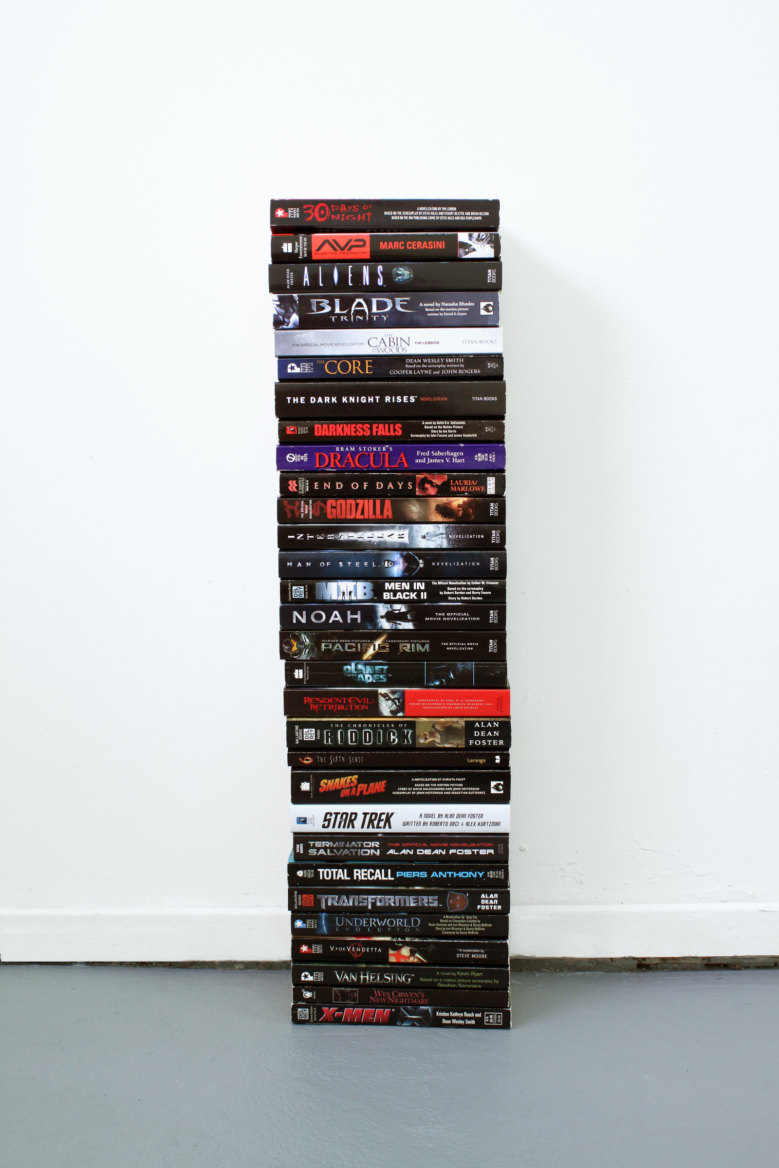 Every Picture Tells a Story , 2015. Collection of film novelizations, 22 x 7 x 4.25 inches