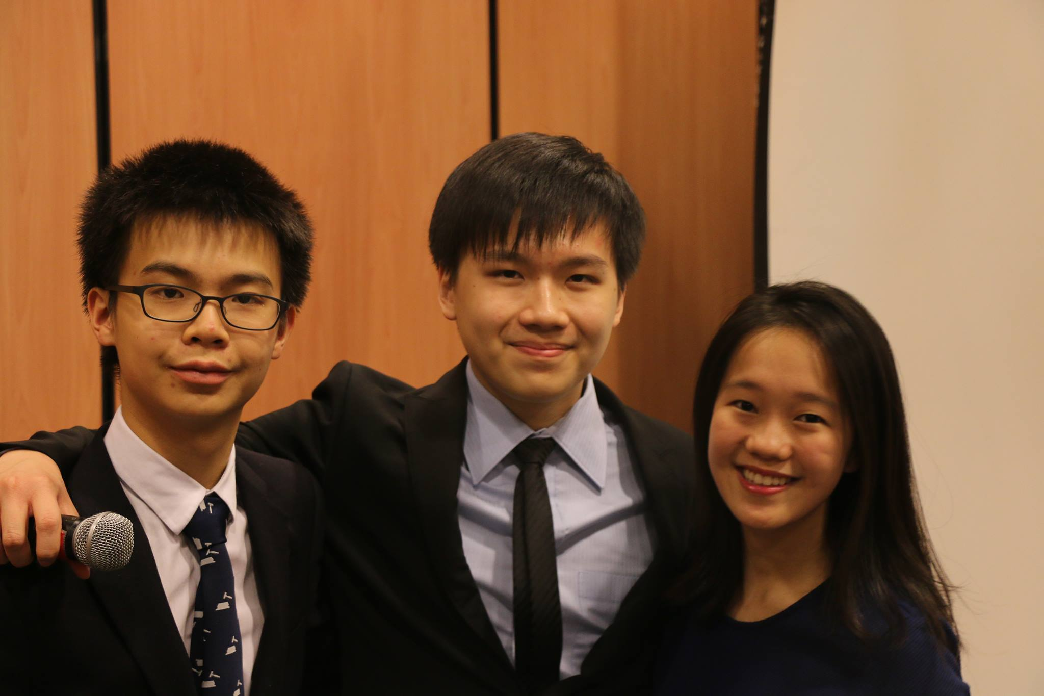 The three teenagers who wanted to share their love for MUN with all students in Hong Kong.