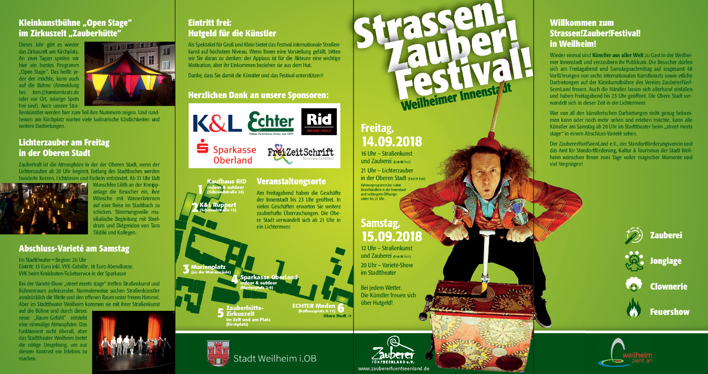 Straßen!Zauber!Festival! Weilheim Zauberer Christaldo