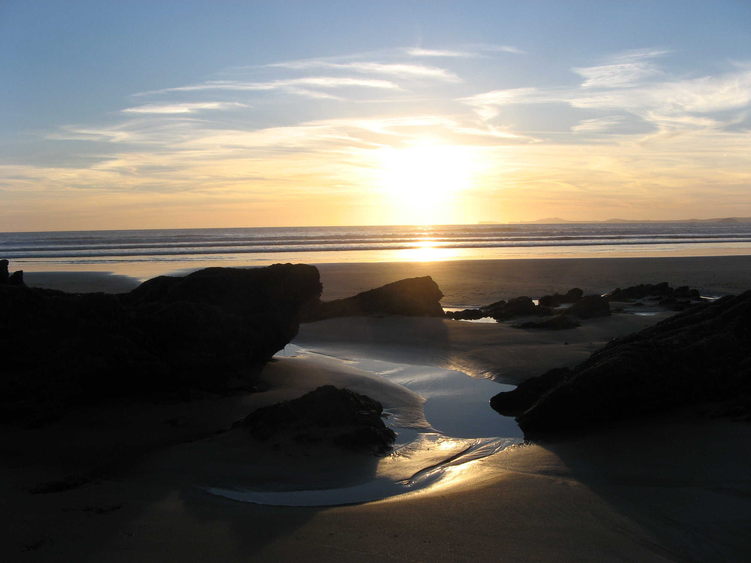 Sunset at our local beach - Newgale, Pembrokeshire