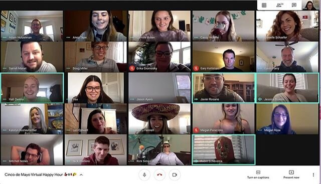 """""""Remember, Cinco de Mayo isn't just about drinking margaritas. It's also about tacos, burritos, and quesadillas."""" - A Wise Person (probably). When Cinco de Mayo falls on Taco Tuesday, you cannot NOT celebrate 🌮 Even though our team had to #CincoAtHome, Tuesday's hangout was a great reminder that near, far, wherever in the world we are, the team will always make it Snow."""
