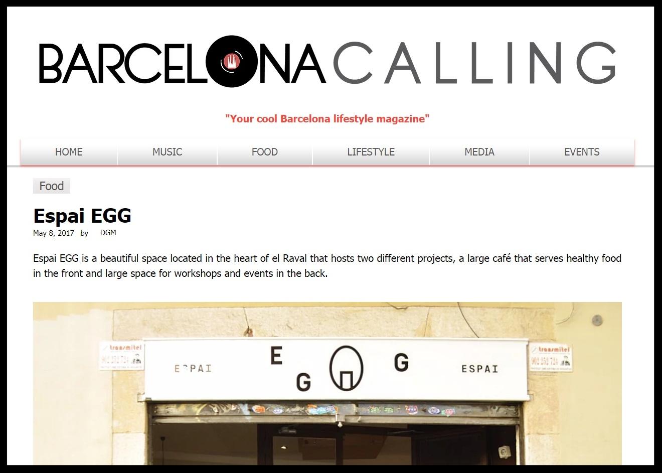 BARCELONA CALLING -