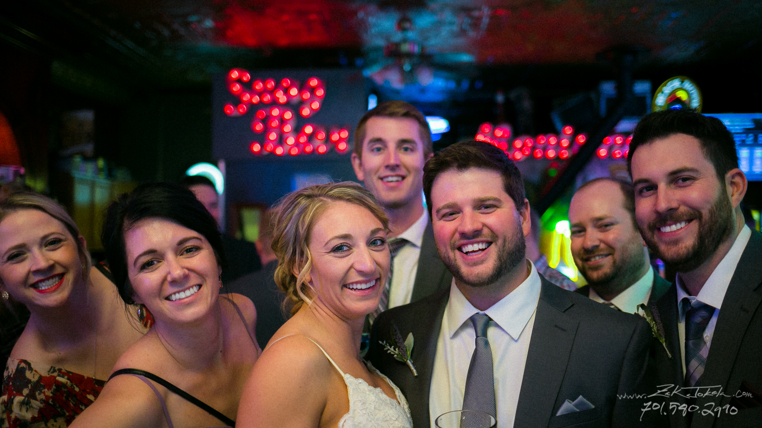 Wedding party at Snag Bar in Red Lodge, MT.