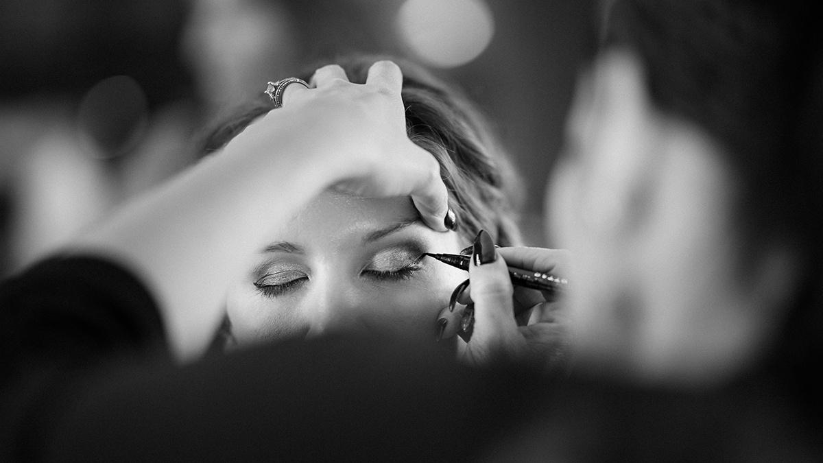 Wedding makeup.