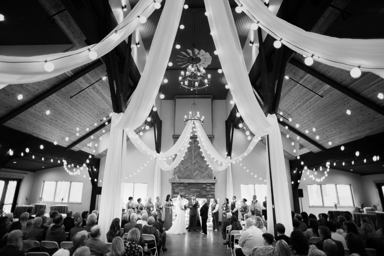 Wedding ceremony at Camelot Ranch in Billings, Mt.