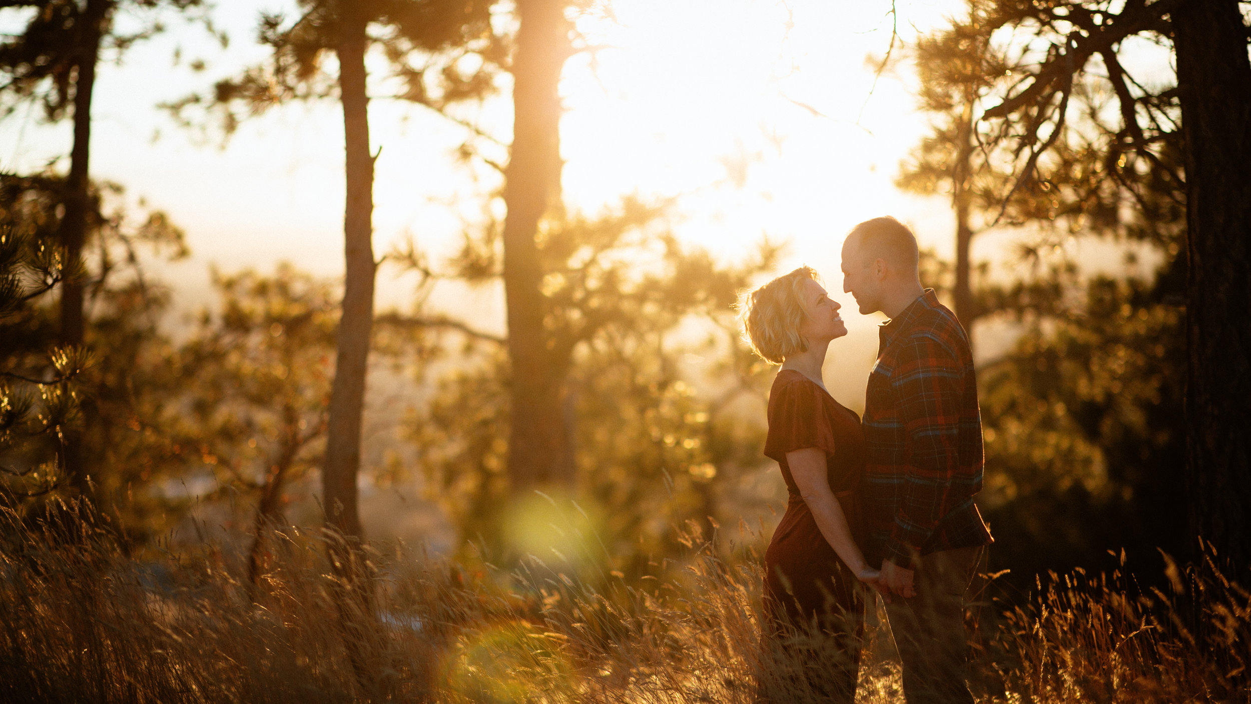 I love it when you get the good good light during a Montana engagement photography session!
