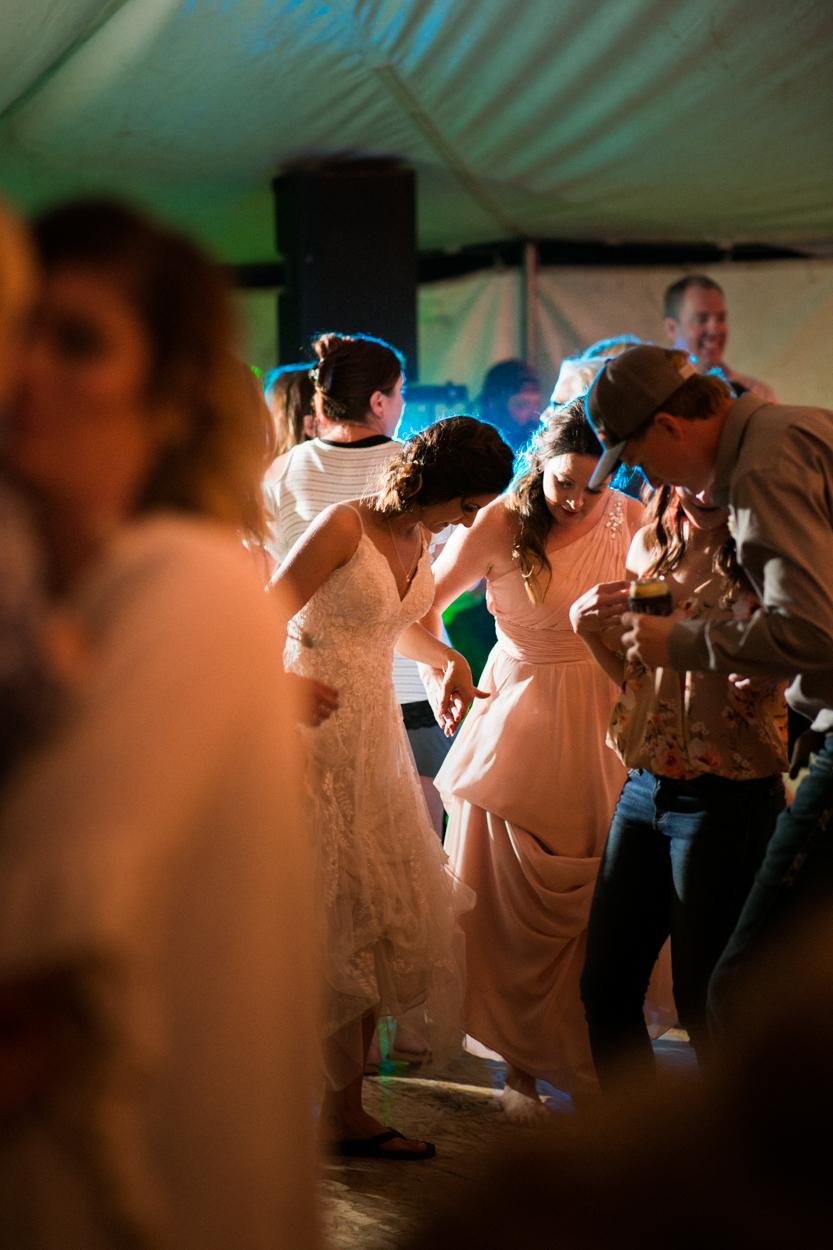 Bride on wedding dance floor