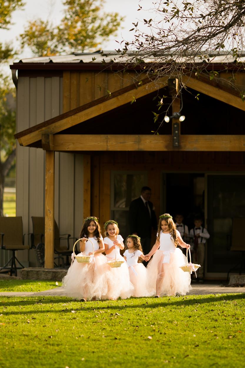 Flower girls at Swift River Ranch, Mt