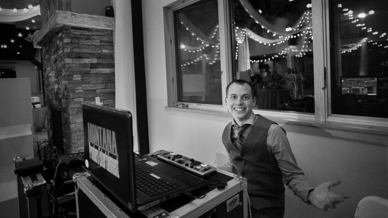 Billings wedding DJ, Montana Premiere Entertainment live at Camelot Ranch.