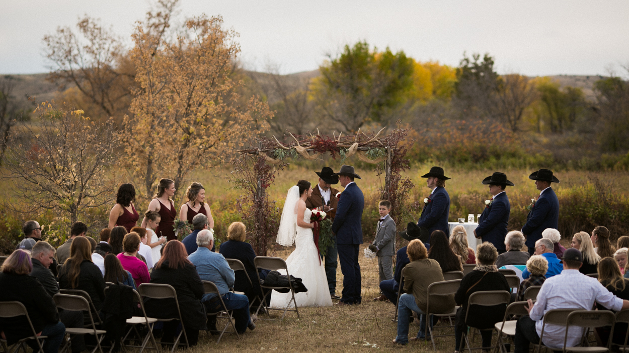 Montana has it's share of rustic country weddings, this one happened just south of Billings in the couples backyard.
