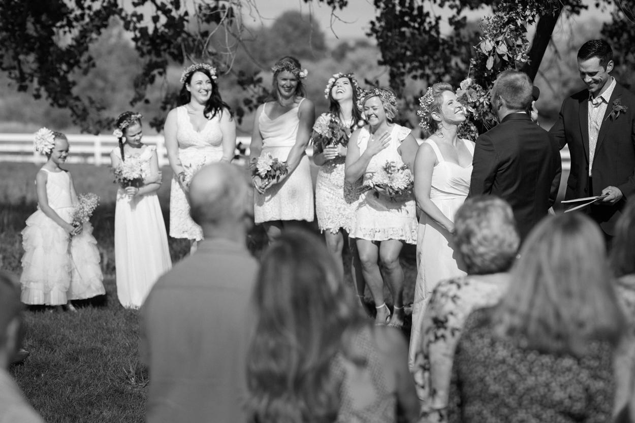 Bridal Party at Camelot Ranch