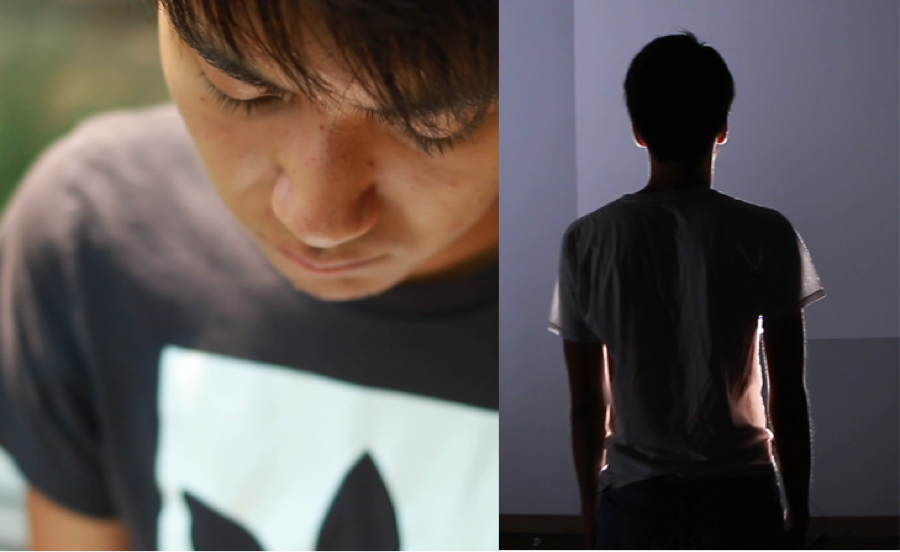 video stills from  Seeking Perfection,  by Intro to Video Production student Kaisai Ota