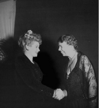 """Lucille Ball and Eleanor Roosevelt, Photo from """"Awesome People Hanging Out"""""""